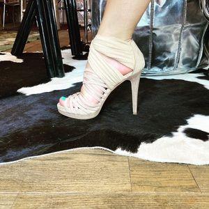 Vintage FENDI Beige Stiletto Sandals
